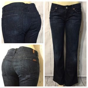 7 For All Mankind A Pocket Boot Cut Jeans Sz 29X31